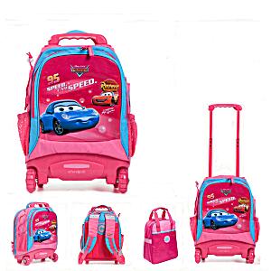 Школьный рюкзак на колесах – ранец Wheelpak Cars Pink – арт. WLP2130 (для 0-3 класса, 15 литров)