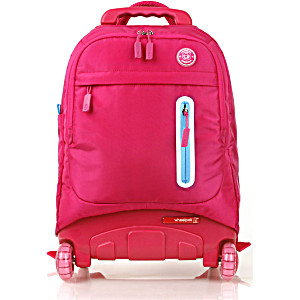 Школьный рюкзак на колесах – ранец Wheelpak Base Pink – арт. WLP2173 (для 3-5 класса, 21 литр)