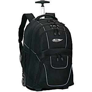 Универсальный школьный рюкзак на колесах Веstway WOSSY XL черный