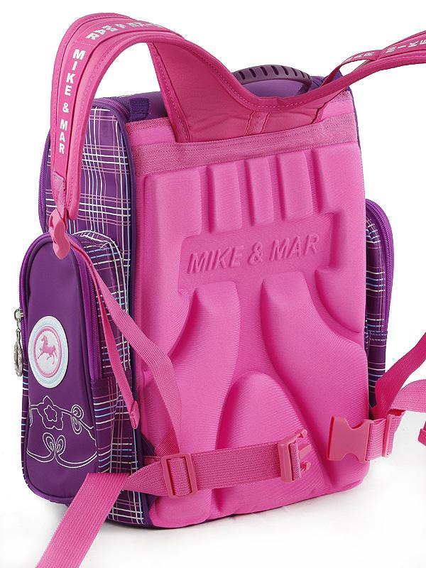 Школьный рюкзак Mike&Mar Майк Мар Котенок (малин/син) 1074-ММ-126 + мешок для обуви + пенал, - фото 2