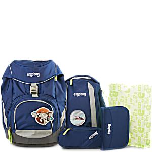 Рюкзак Ergobag OutBEARspace с наполнением + светоотражатели в подарок