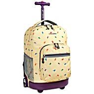 Универсальный школьный рюкзак на колесах JWORLD Sunrise арт. RBS18 Твит
