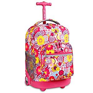 Универсальный школьный рюкзак на колесах JWORLD Sunrise арт. RBS18 Маки