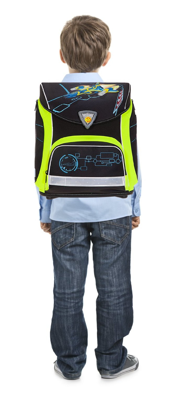 Школьный ранец Herlitz Sporti Plus Spaceshuttle с наполнением 4 предмета, - фото 6