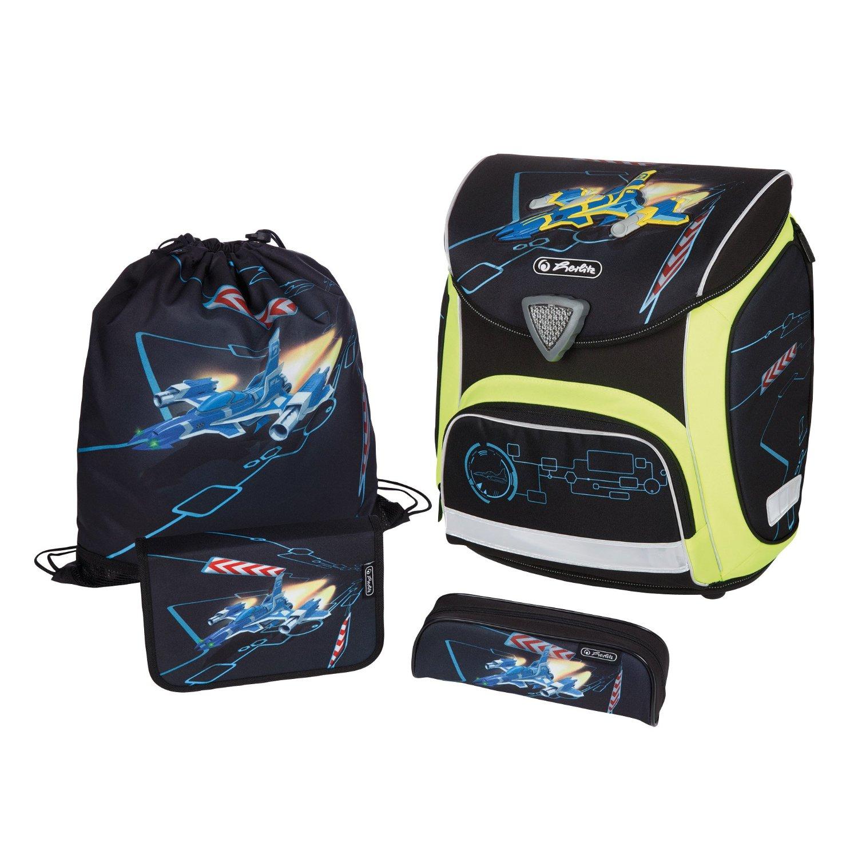 Школьный ранец Herlitz Sporti Plus Spaceshuttle с наполнением 4 предмета, - фото 1