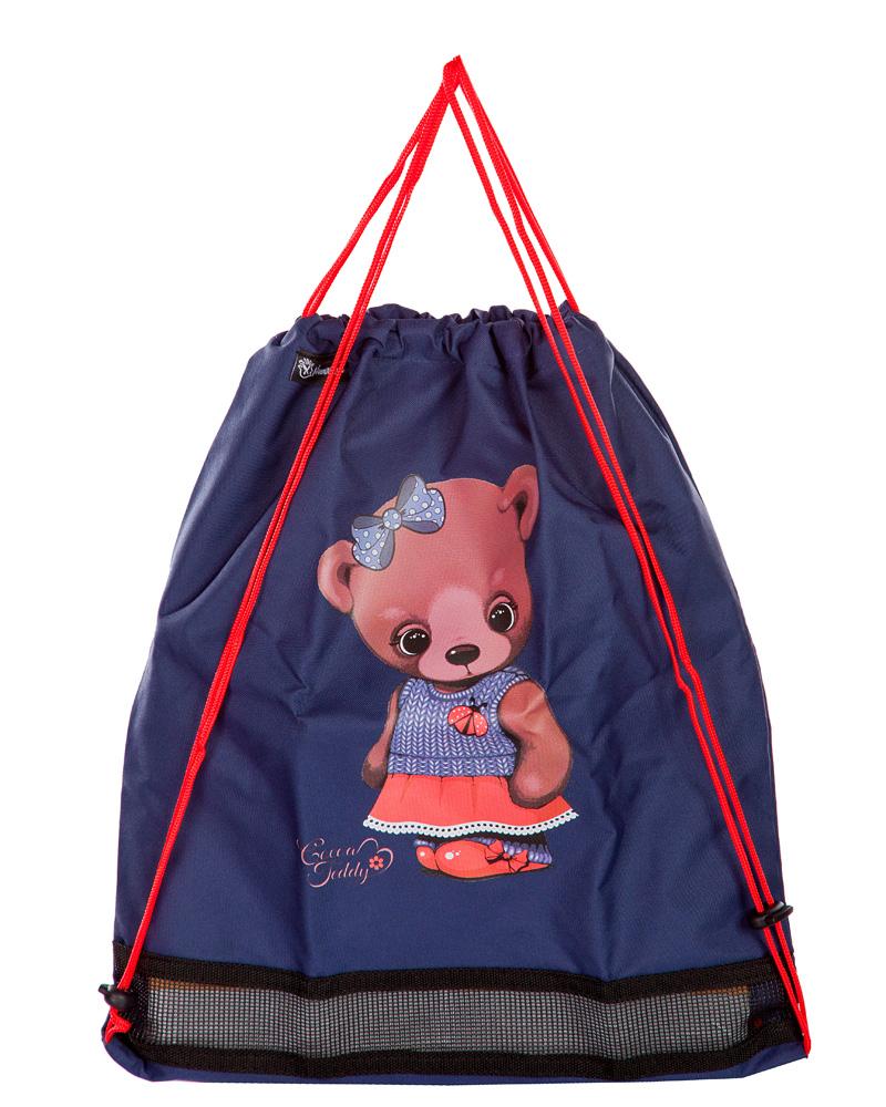 Рюкзаки для девочек Hummingbird TK32 Мишка с мешком для обуви, - фото 4