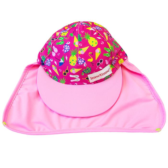 Кепка с защитой от солнца ImseVimse Пляжная жизнь розовый, - фото 1