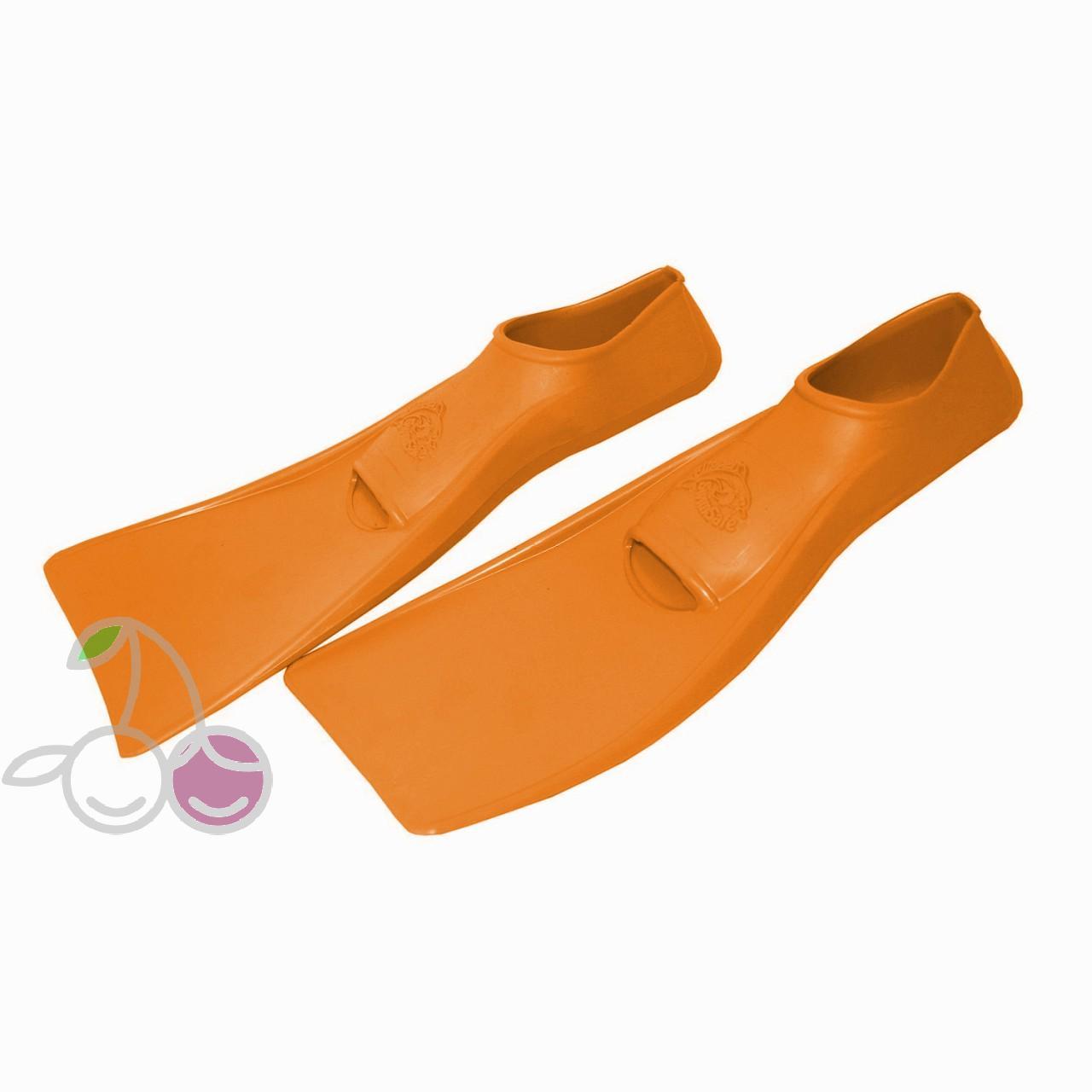 Ласты для бассейна резиновые детские размеры 21-22 оранжевые ПРОПЕРКЭРРИ (ProperCarry), - фото 2