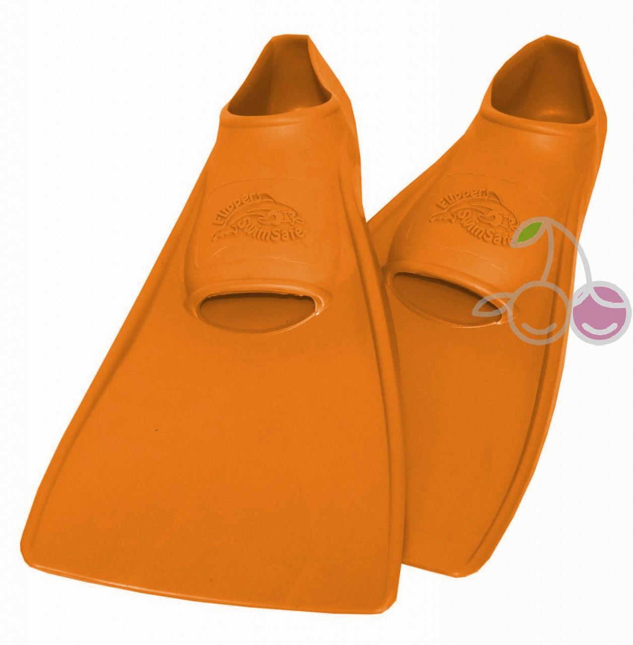 Ласты для бассейна резиновые детские размеры 21-22 оранжевые ПРОПЕРКЭРРИ (ProperCarry), - фото 1