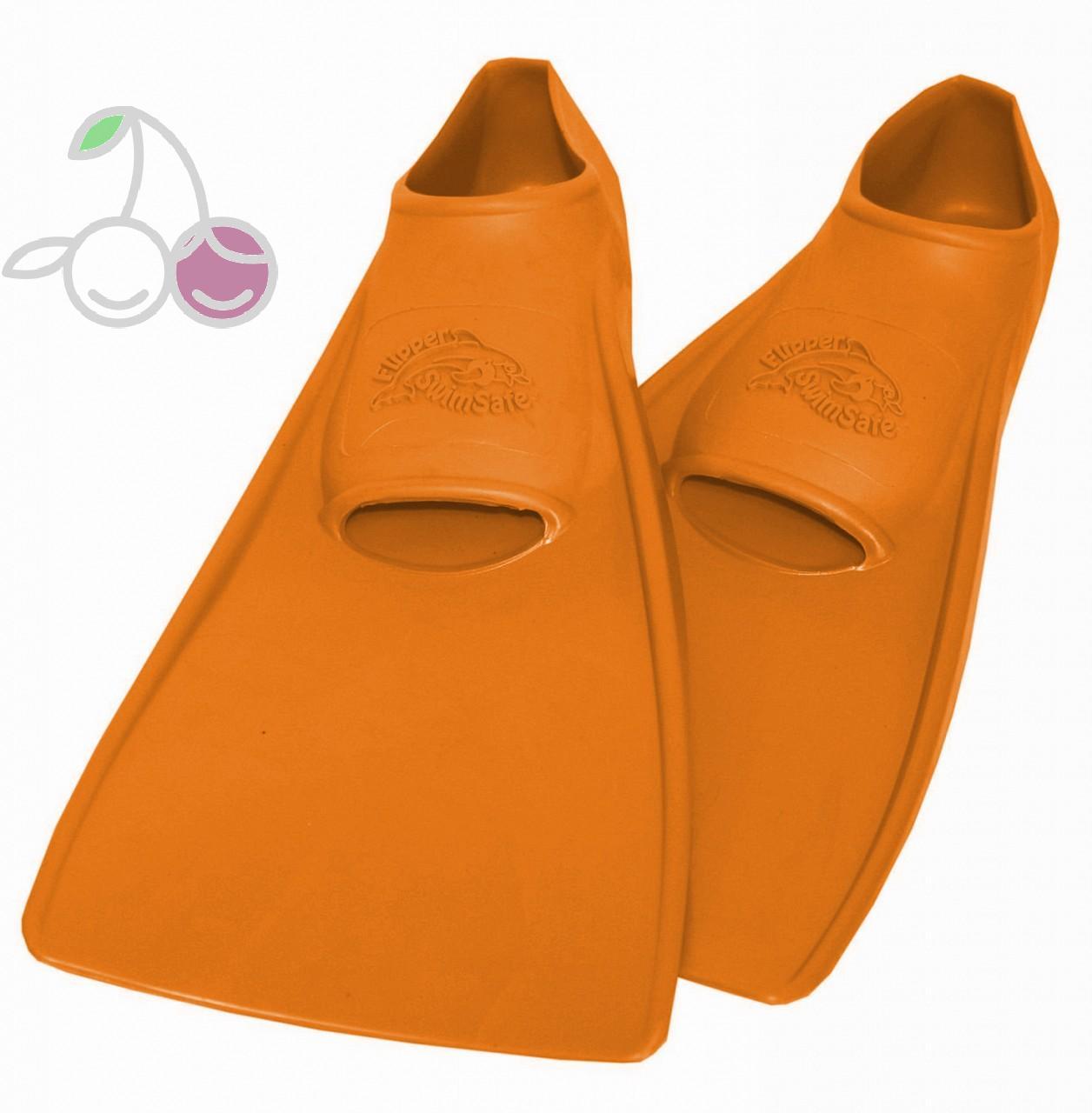 Ласты для бассейна резиновые детские размеры 25-26 оранжевые ПРОПЕРКЭРРИ (ProperCarry), - фото 1
