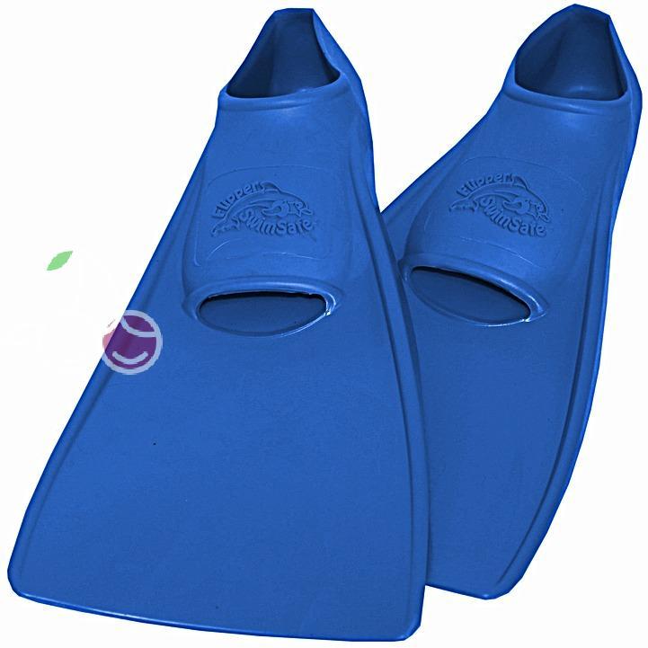 Ласты детские эластичные маленький размер 26 синие закрытая пятка ProperCarry (ПРОПЕРКЭРРИ), - фото 1